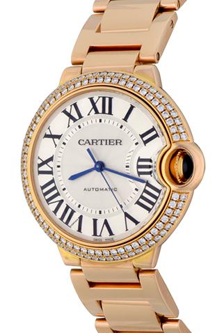Product cartier ballon bleu midsize watch rose gold main c47554