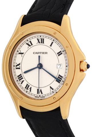 Product cartier cougar quartz mens watch main c47071