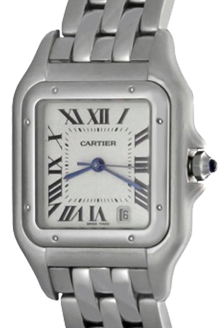 Product cartier panther quartz mens watch main c47687