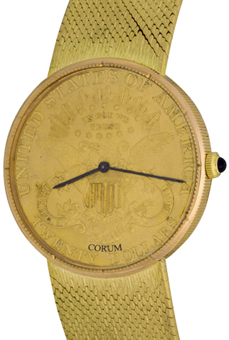 Product corum gold piece quartz mens watch main c46668