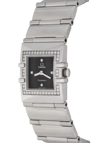 Product omega constellation quadra diamond quartz ladies watch main c47182