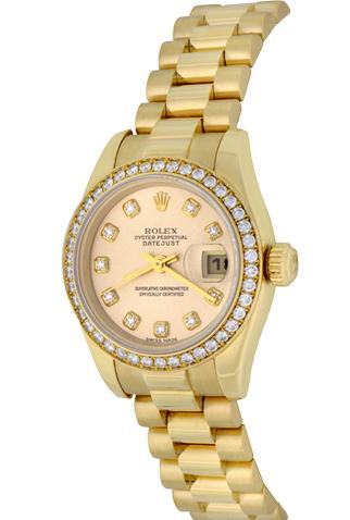 Product rolex president 179138 diamond ladies watch main c47327