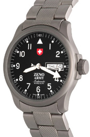 Zeno-Watch Basel Army Pilot Day-Date inventory number C47052 mobile image