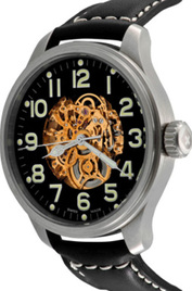 Zeno-Watch Basel Pilot Oversized Skeleton inventory number C41295 mobile image